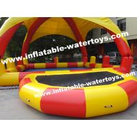 0.9mm PVC Tarpaulin Inflatable Water Pools with protective Pillar and Net Manufactures