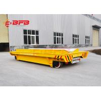 Heavy - Duty Transporter 10 Ton Capacity Platform Lorry With Rail Transfer Cart Battery Manufactures