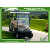 China Brown 6 Seats Electric Buggy Car Aluminum Wheel 48V 3.7KW 630KG on sale