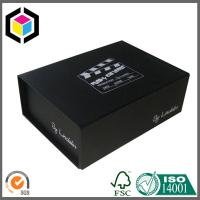 Black Full Color Printed Cardboard Gift Packing Box with Magnetic Closure Manufactures