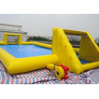 Inflatable Soccer Game / football Field Sports Equipment With 0.45mm - 0.55mm PVC Tarpaulin Manufactures