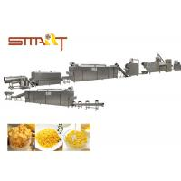 Instant Corn Flakes Production Line / Breakfast Cereal Machine 100kg/Hr Manufactures