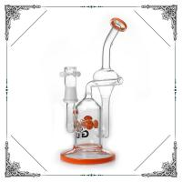 Recycle Glass Bong With Percolator Hookah Smoking Pipes 10 Inches Bubbler Manufactures
