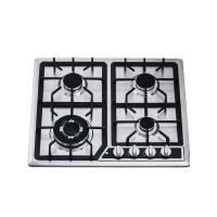 Kitchen 4 Burner Gas Hob Gas Cooktop With Auto Igntion / Cast Iron Pan Support Manufactures