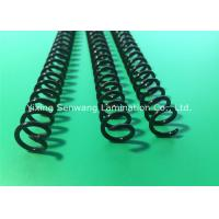 Quality Round Black Plastic Spiral Coils 7/16'' , Unlocking Binding Coil For Books for sale