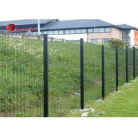 Powder Coated 3D Curved Metal Fence Welded Wire Mesh Panel Fence With Peach Post Manufactures