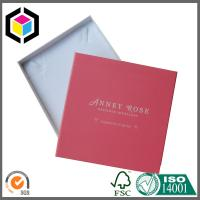 Luxury Red Color Jewelry Packaging Box with Foam Insert; Lid Off Paper Gift Box Manufactures