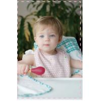 Eco - Friendly Infant Baby Accessories Small Bibs Safe Cotton And Bamboo Manufactures