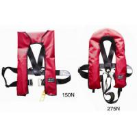 Inflatable Marine Life Saving Equipment Life Jacket Horse Collar Type With High Buoyance Manufactures