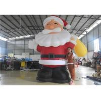 European Standard Inflatable Cartoon Characters , 3m Inflatable Santa Claus Manufactures