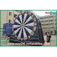 China Logo Printing 0.55mm PVC Inflatable Sports Game Customized Size Football Darts Board on sale