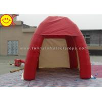 Outdoor Lawn Event Mini 3m Inflatable Tent PVC Red Inflatable Dome Tent With Door
