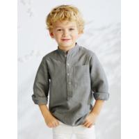 Children's shirt » Young Kids Round Collar Long Sleeve Shirt Manufactures