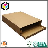 Top Locking Tab Plain Brown Color Corrugated Carton Shipping Box for Mailing Box Manufactures