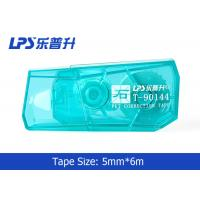 Green / Blue / Red Mini Correction Tape In Blister Card 5mm * 6m Manufactures