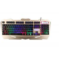 Quality Korea Layout USB Gaming Keyboard Multimedia With Suspension Keycaps Aluminum Cover for sale