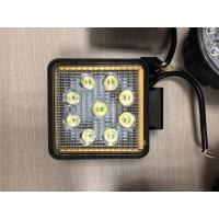 "Factory Promotion 12V 24V Offroad Truck 5.1"" Square 27W LED Work Light with Ring and Strobe Model Manufactures"