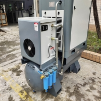 20HP 15KW 16bar No Fuel Integrated Mini Combined Screw Compressor With Dryer Manufactures