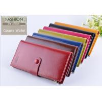 Men Oil Wax Leather Clutch Wallet Three Fold Long Type With Card ID Holder Manufactures