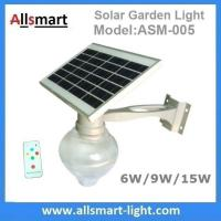 Quality 6W/9W/15W Solar Parking Lot LED Light Solar Garden Wall Light LED Street Light for sale