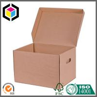 High Quality Corrugated Kraft Archive Box; A4 File Archive Cardboard Packaging Box Manufactures
