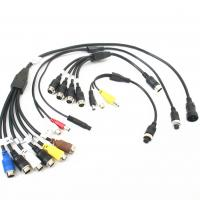 Customized Male To Female Backup Camera Extension Cable ROHS / CCC Manufactures