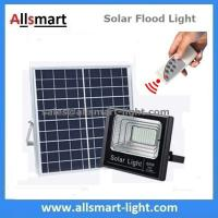60W 100LED Solar Flood Lights with Remote Outdoor Battery LED Light With Solar Panel for Garden Patio Street Parking Lot Manufactures