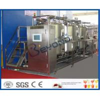10 m³/H Flow Rate 1000L CIP Cleaning System For Milk Processing Plant ISO 9001 / SGS / CE Manufactures