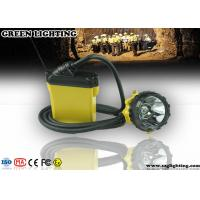 25000 Lux Brightness CREE Miners Helmet Light With Low Power Warning Function Manufactures