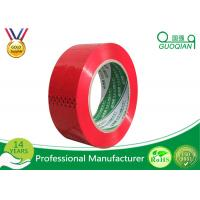 Red Cargo Wrapping BOPP Adhesive Tape Biaxially Oriented Polypropylene Packaging Tape Manufactures