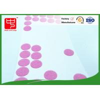 25mm dia adhesive based Custom Hook and Loop Patches rounded dots for small toy Manufactures