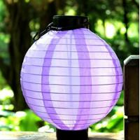 5 Lumens Solar fabric Lantern / Solar Powered Fabric Lanterns For Garden / Patio Manufactures