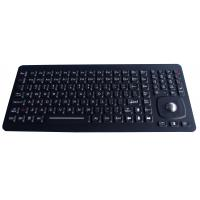 24 Function Keys Black Panel Mount Ruggedized Keyboard With 25mm Optical Trackball Manufactures