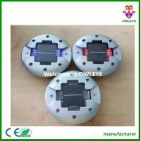 China Round embedded solar road line marker,solar powered led aluminium cats eye road stud on sale