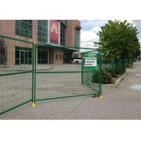"""Quality 8' Height x 10' Width Canada standard Temporary Construction Fencing Panels Tubing 1.6""""/40mm Brace 1""""/25mm for sale"""