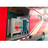 Quality 8000x2200x3400mm Dimension Fire Brigade Truck , Rated Output Power 50KW Fire Equipment Truck for sale