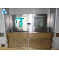 Stainless Steel Hospital Air Filter Hand Basins With Cabinets For 2 Person Manufactures