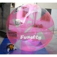 Pink Color Inflatable Water Walking Ball 0.8MM TPU for Water Pool or sea water games Manufactures