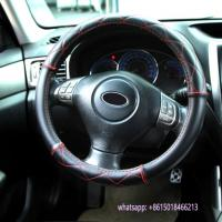 special design black leather car interior accessories steering wheel cover Manufactures