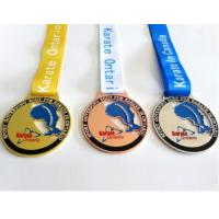 Custom Design Sports Plated Gold Medals Custom Medal And Ribbons Manufactures