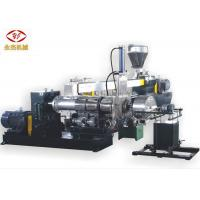 Heavy Duty PVC Granules Machine  , Two Stage Industrial Extruder Pellet Machine Manufactures