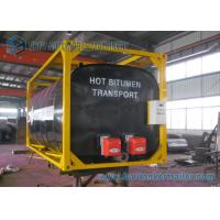 China ISO Frame Liquid Bitumen Storage Tanks 20 Foot Shipping Container on sale