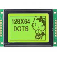 China M12864K-Y5, 12864 Graphics LCD Module, 128 x 64 Display, STN yellow green, transflective/p on sale