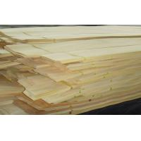 Yellow Rubber Slice Crown Cut Wood Veneer For Furniture Manufactures