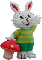 Commercial Advertising Inflatable Cartoon , Inflatable Stuffed Plush Animals Manufactures