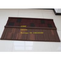 China Storm Resistance Corrugated Steel Roofing Sheets Installed size 1290*370mm Makuti Grained Tile on sale