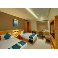 custom Modern Design Plywood Cover with Wood Veneer Hotel Bedroom Furniture Set Manufactures