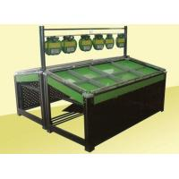Metal Frame Shelf Green Paint Fruit and Vegetable Rack Display Stands for Supermarket Manufactures