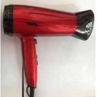 Red Color Travel Folding Hair Dryer Lightweight , Mini Hair Dryer For Kids Manufactures