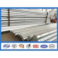25FT - 45FT 15KV Octagonal Hot Dip Galvanized Steel Pole , Electric Power Pole Manufactures